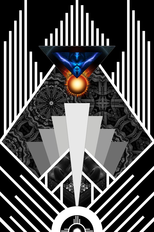 Wings Of Lightning Deco Mech Flare Fractal Abstract Art by xzendor7