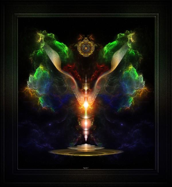 Wings On The Heart Of Light Fractal Art by xzendor7