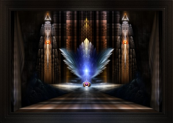 The Wings Of Heaven Fractal Art Composition by xzendor7