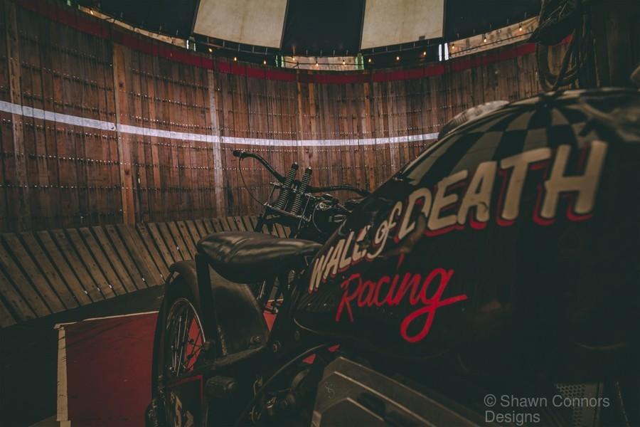Wall of death Harley Davidson  Print