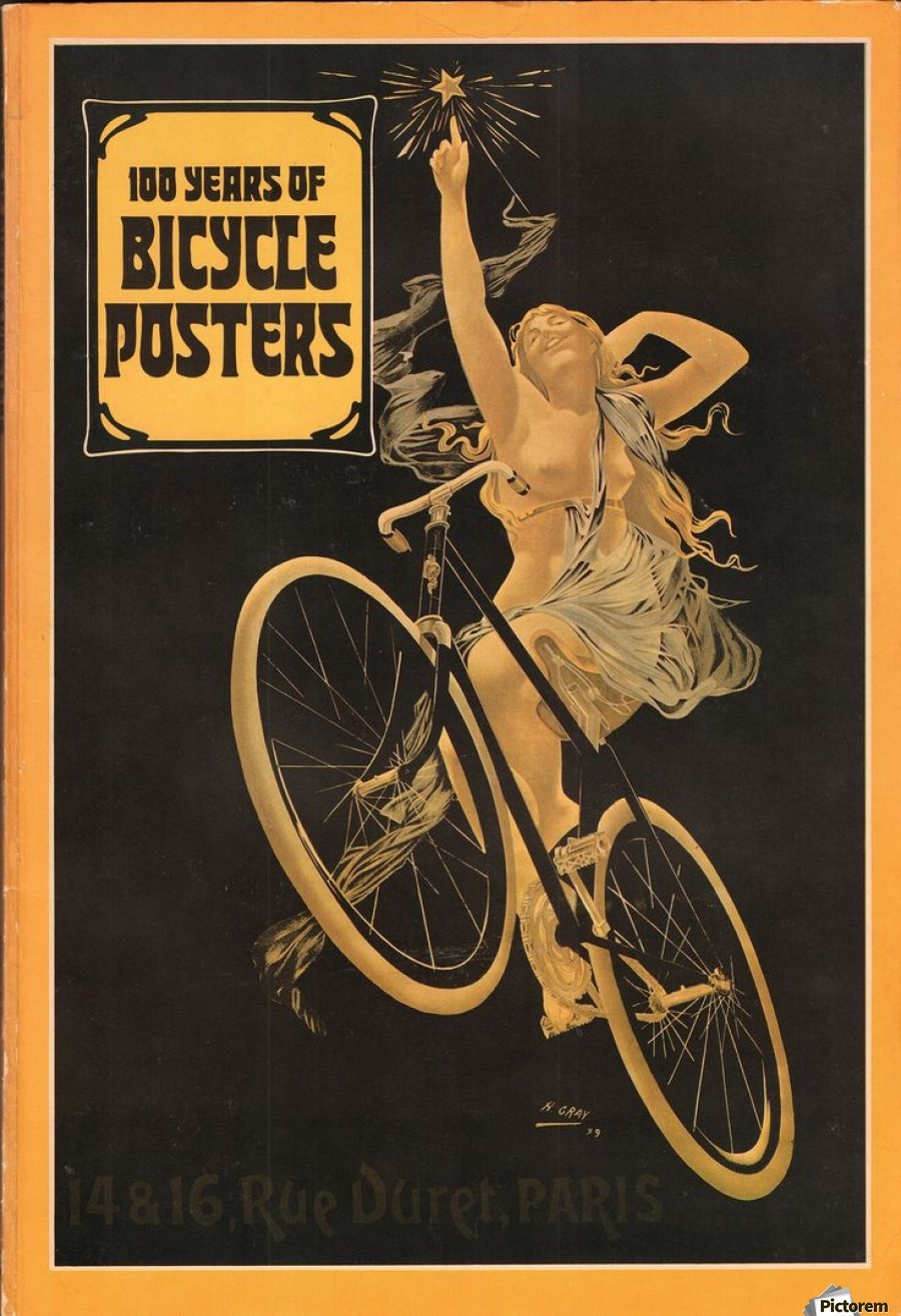 New 100 years of bicycle posters - VINTAGE POSTER Canvas LP13
