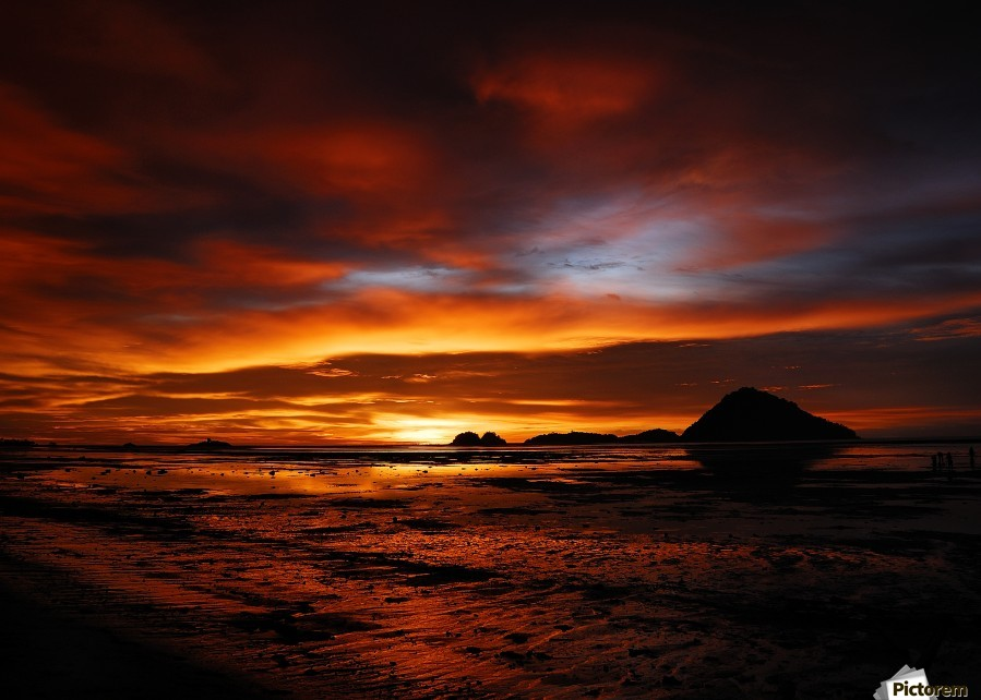 colours by Fulvio Pellegrini  , 1x , landscape,fire,sunset