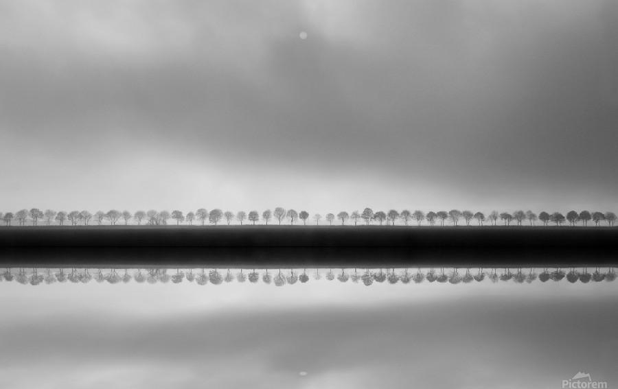 Polderlandscape in reflection  Print