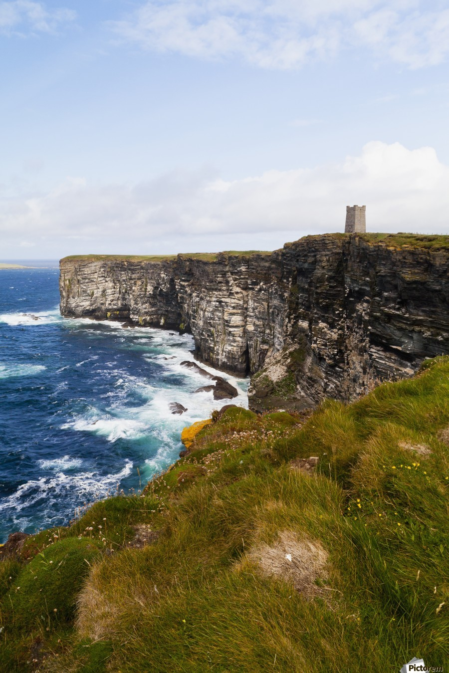Marwick Head RSPB Nature Reserve, Kitcheners Monument; Orkney, Scotland  Print