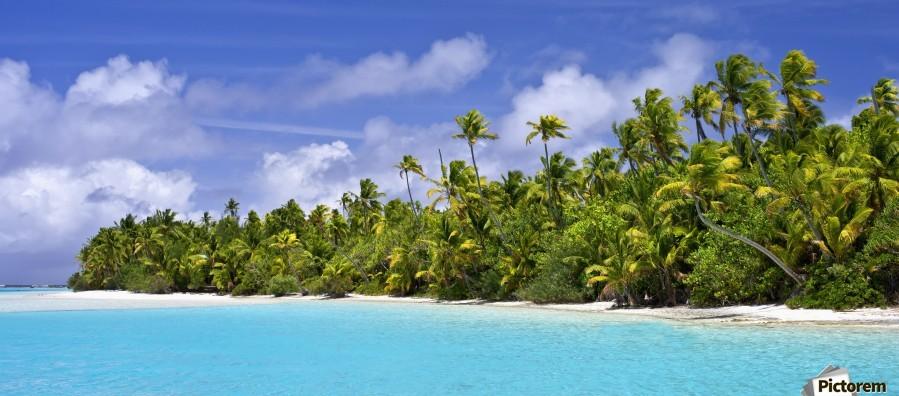 Remote island near Barefoot Island; Aitutaki, Cook Islands  Print