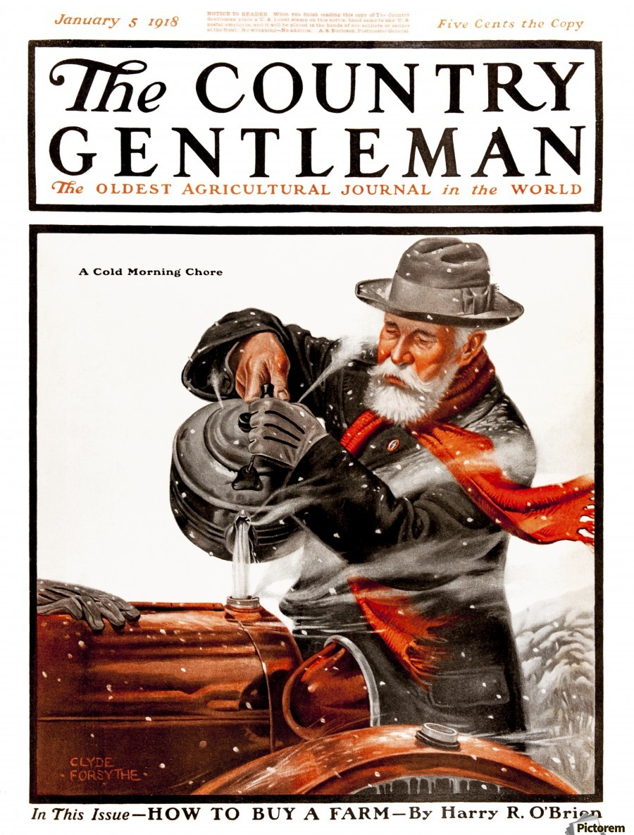 Cover of Country Gentleman agricultural magazine from the early 20th century. .  Print