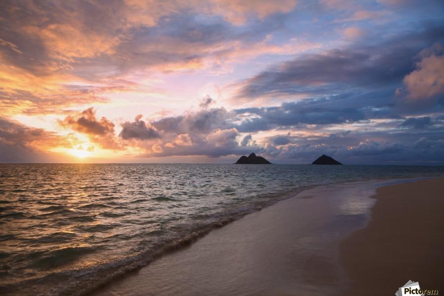 Sunrise At Lanikai Beach Kailua Island Of Hawaii Hawaii United States Of America Pacificstock Canvas Artwork