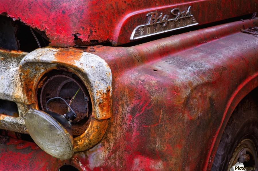 Detail of fire truck that belonged to Kodiak Volunteer Fire Department; Kodiak, Alaska, United States of America  Imprimer