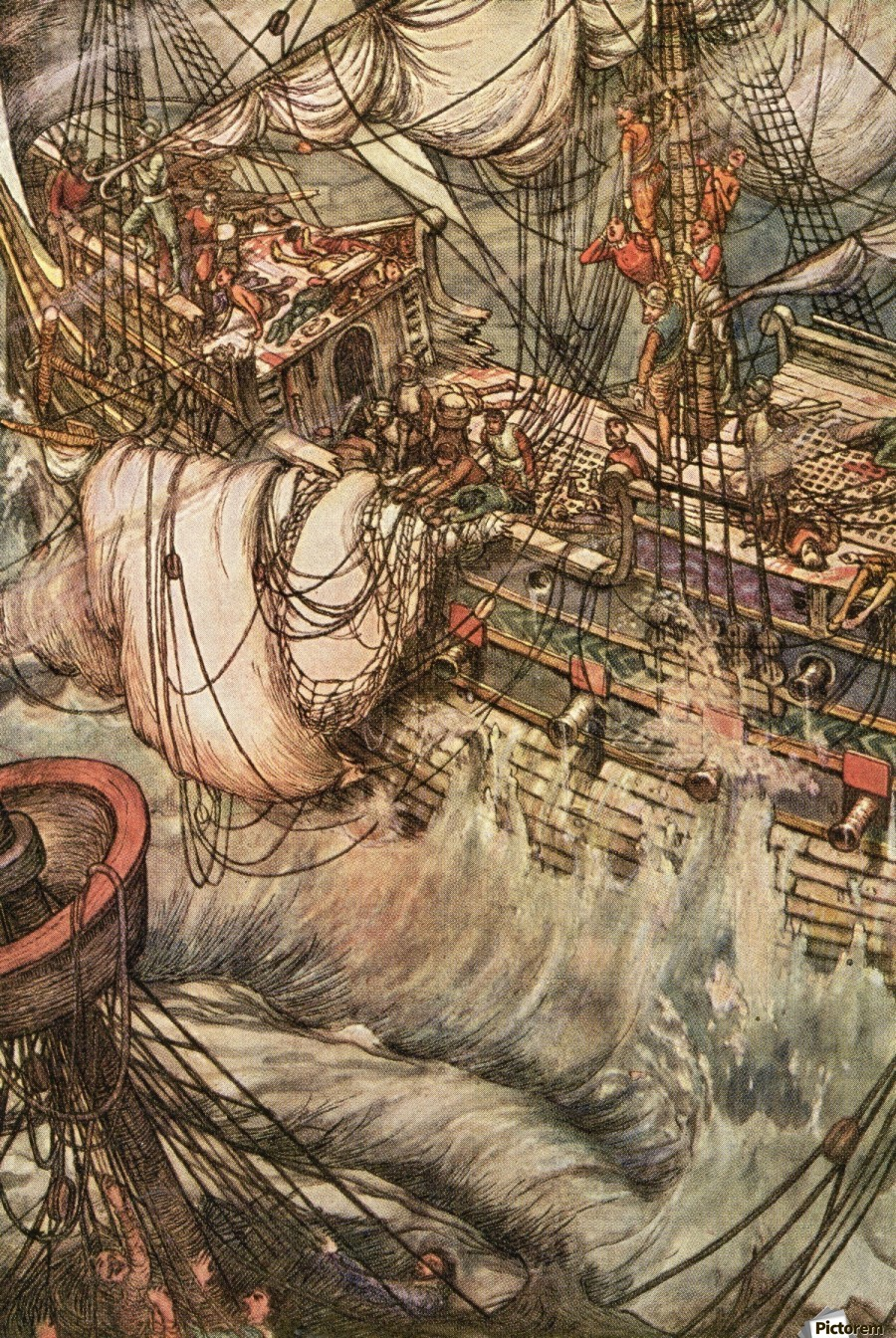 illustration by w heath robinson to the poem the song of the dead