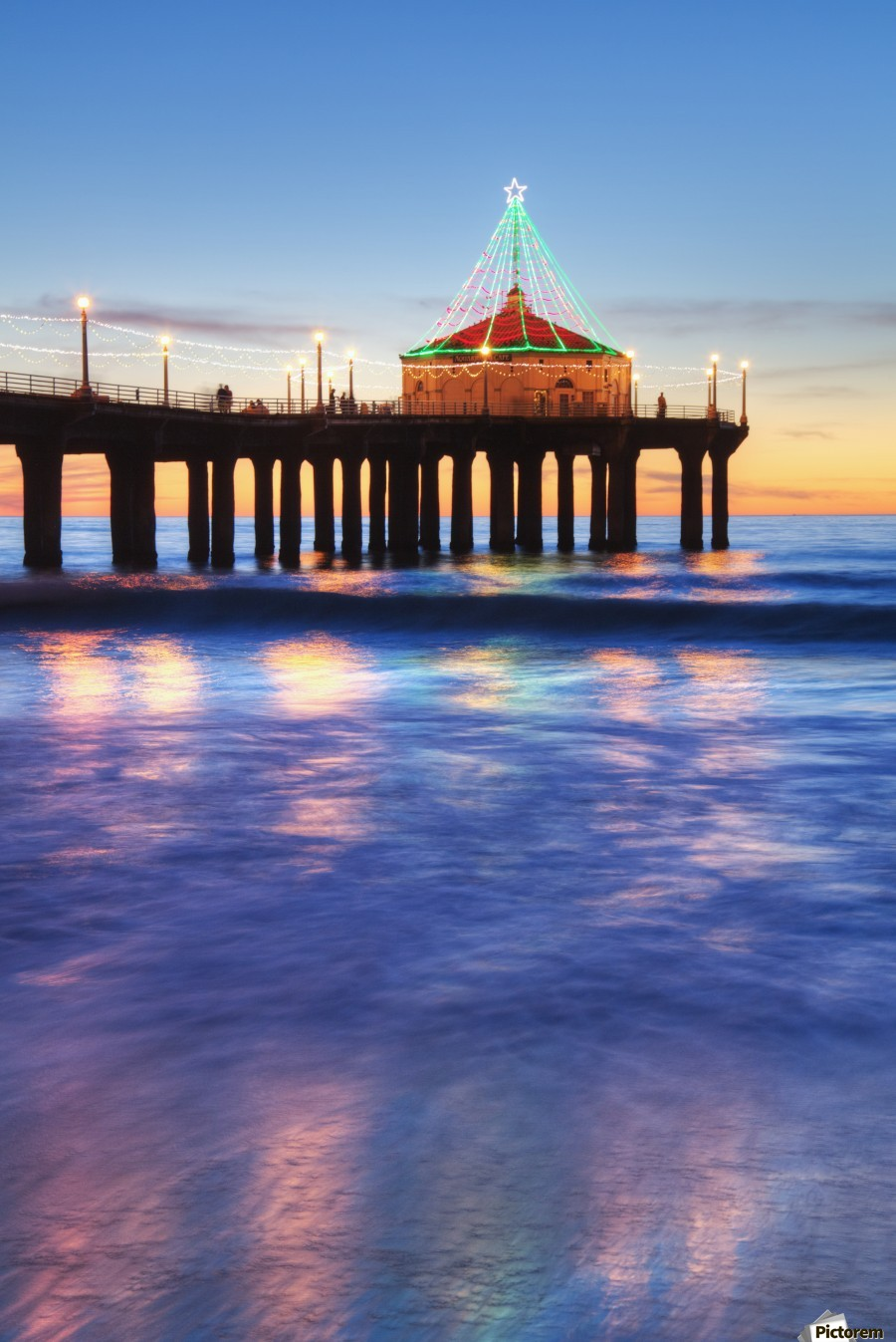 Manhattan Beach Pier At Sunset, Completed In 1920