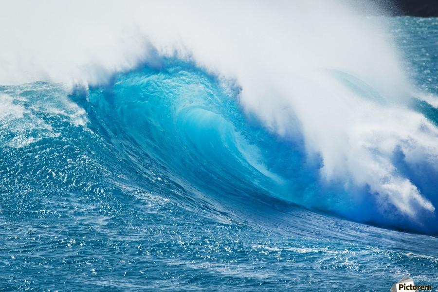 Beautiful Blue Ocean Wave  Print