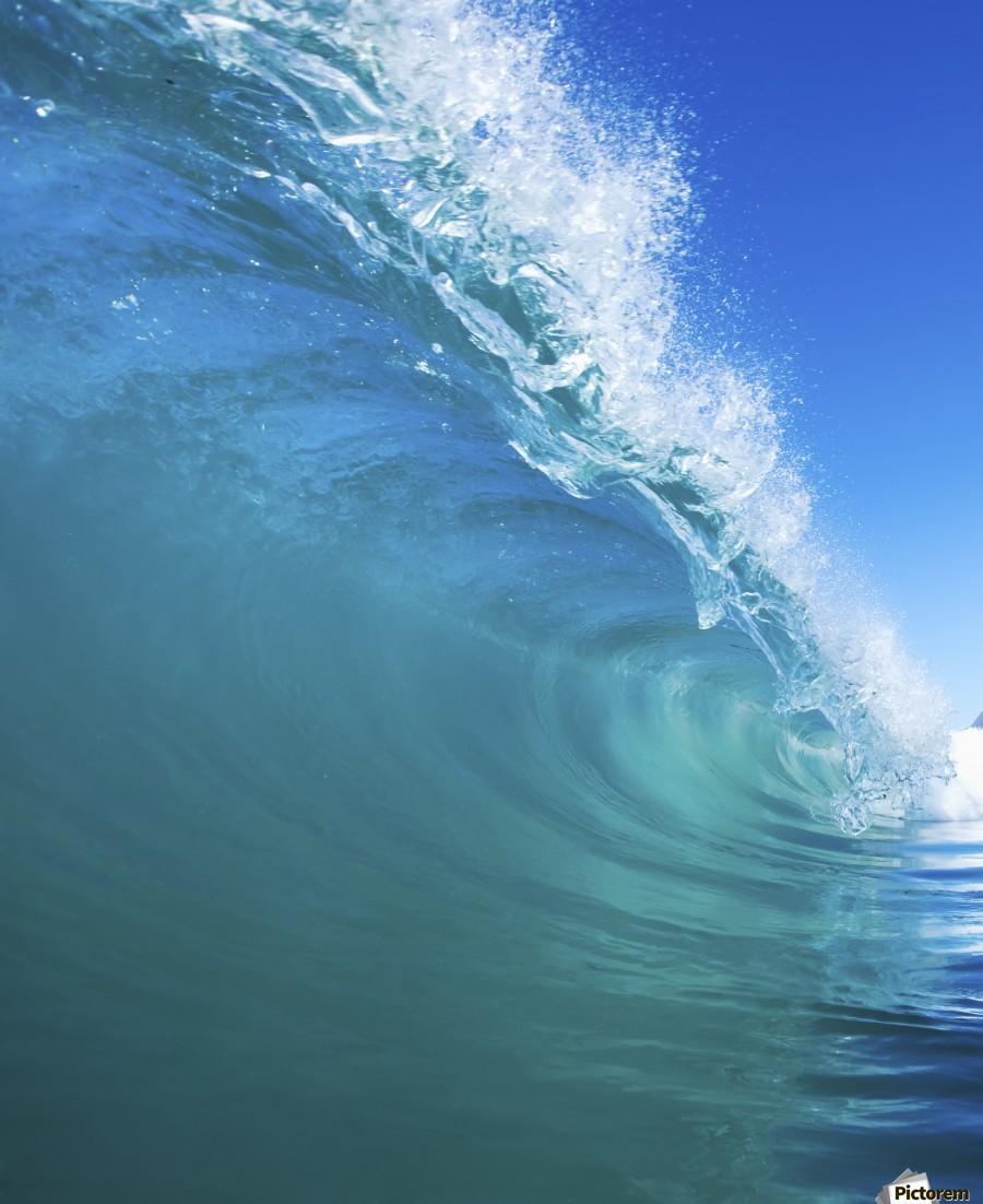 Blue Ocean Wave  Print