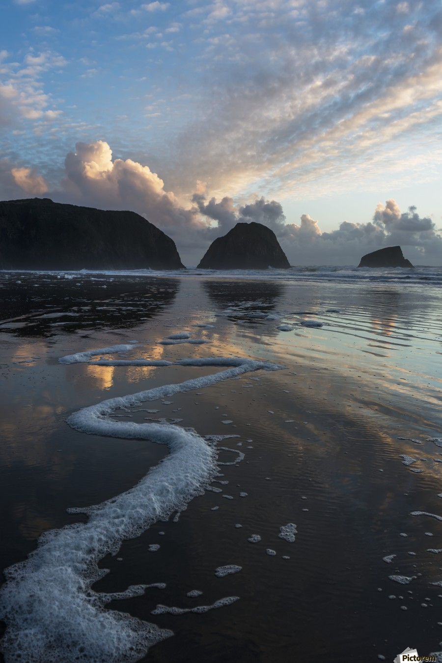 Dusk approaches on Crescent Beach; Cannon Beach, Oregon, United States of America  Print