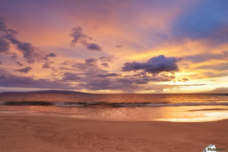 Sunset on Hawaii Beach  Print