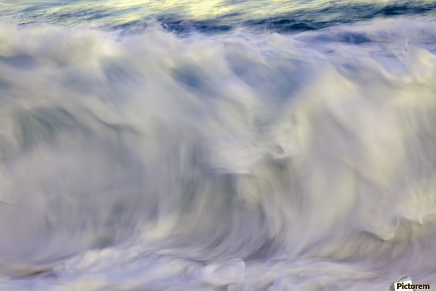 Ocean wave blurred by motion; Hawaii, United States of America  Print