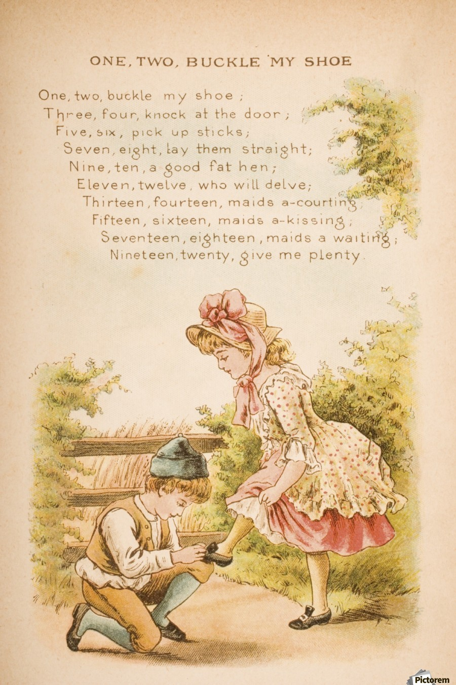 One Two Buckle My Shoe from Old Mother Goose\'s Rhymes and Tales ...