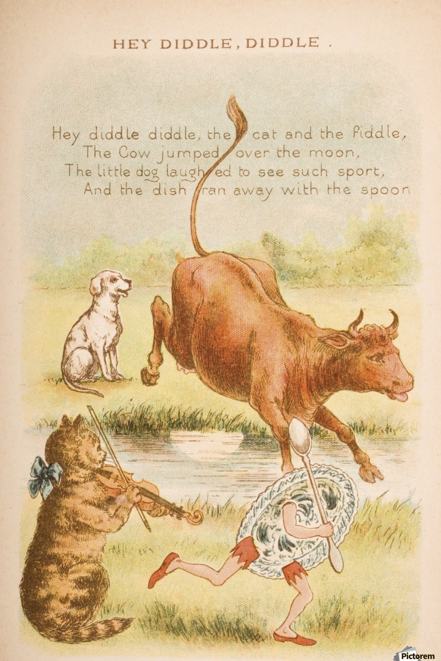 Hey Diddle From Old Mother Goose S Rhymes And Tales Ilrated By Constance Haslewood Published Frederick Warne Co London New York Circa