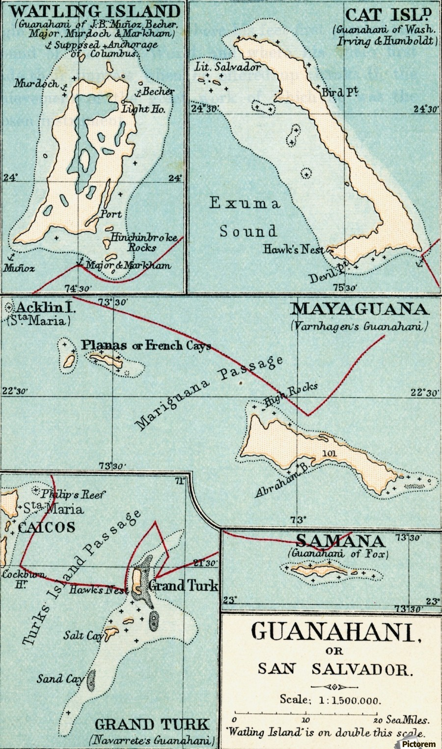 Map of Guanahani or San Salvador showing Watling Island where Christopher Printable Pictures Of A Map Before Columbus on printable map nc, aerial view of columbus, printable map ky, printable map wv, printable map texas, google map of columbus, topographical map of columbus, printable map kansas, printable honolulu map, printable map nj, printable map georgia, printable dallas map, printable new orleans map, castle of columbus, printable map ohio,