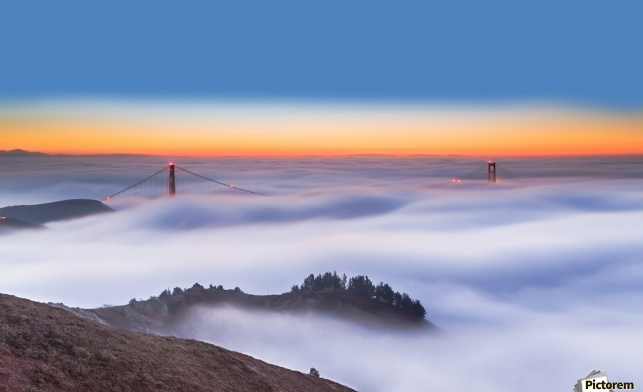 The Golden Gate Bridge in the Fog  Print