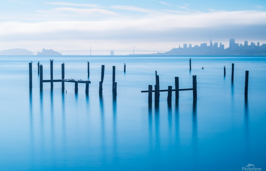 The Old Pier of Sausalito  Print