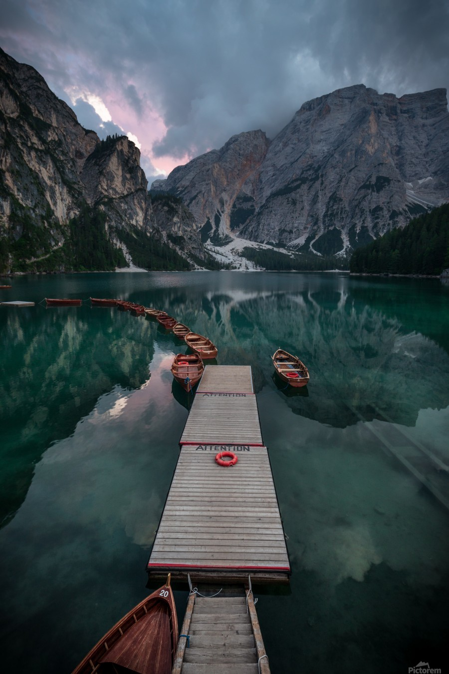Braies reflections  Print