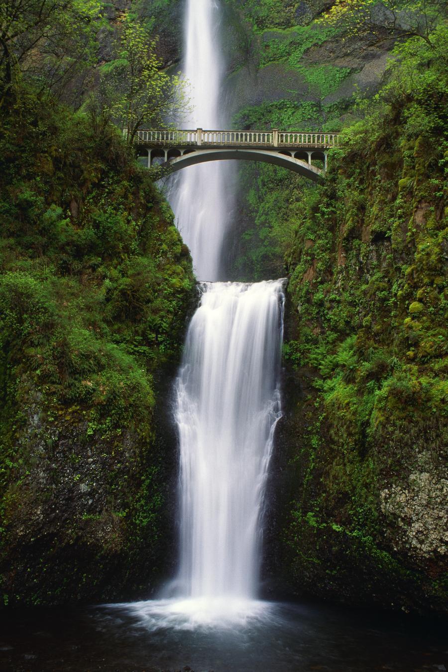 Multnomah Falls Oregon Usa Pacificstock Canvas