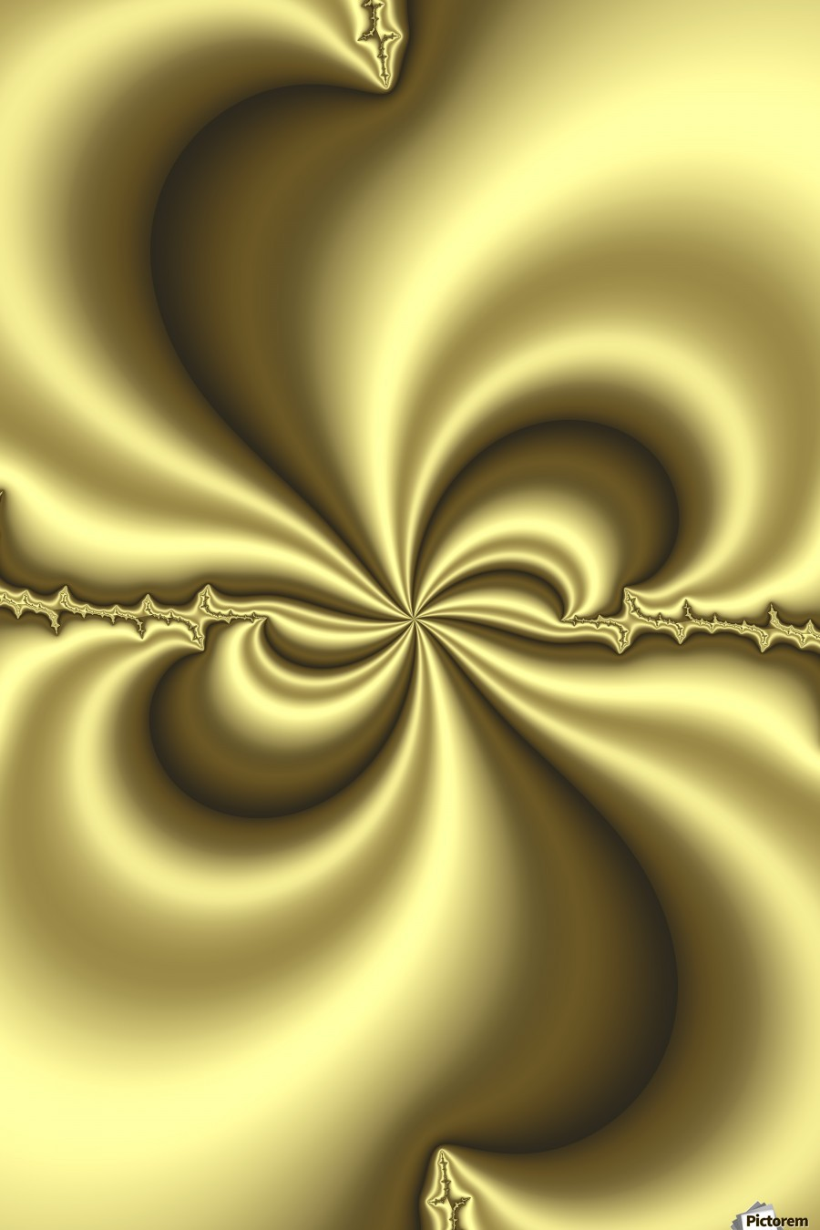 Gold Abstract  Print