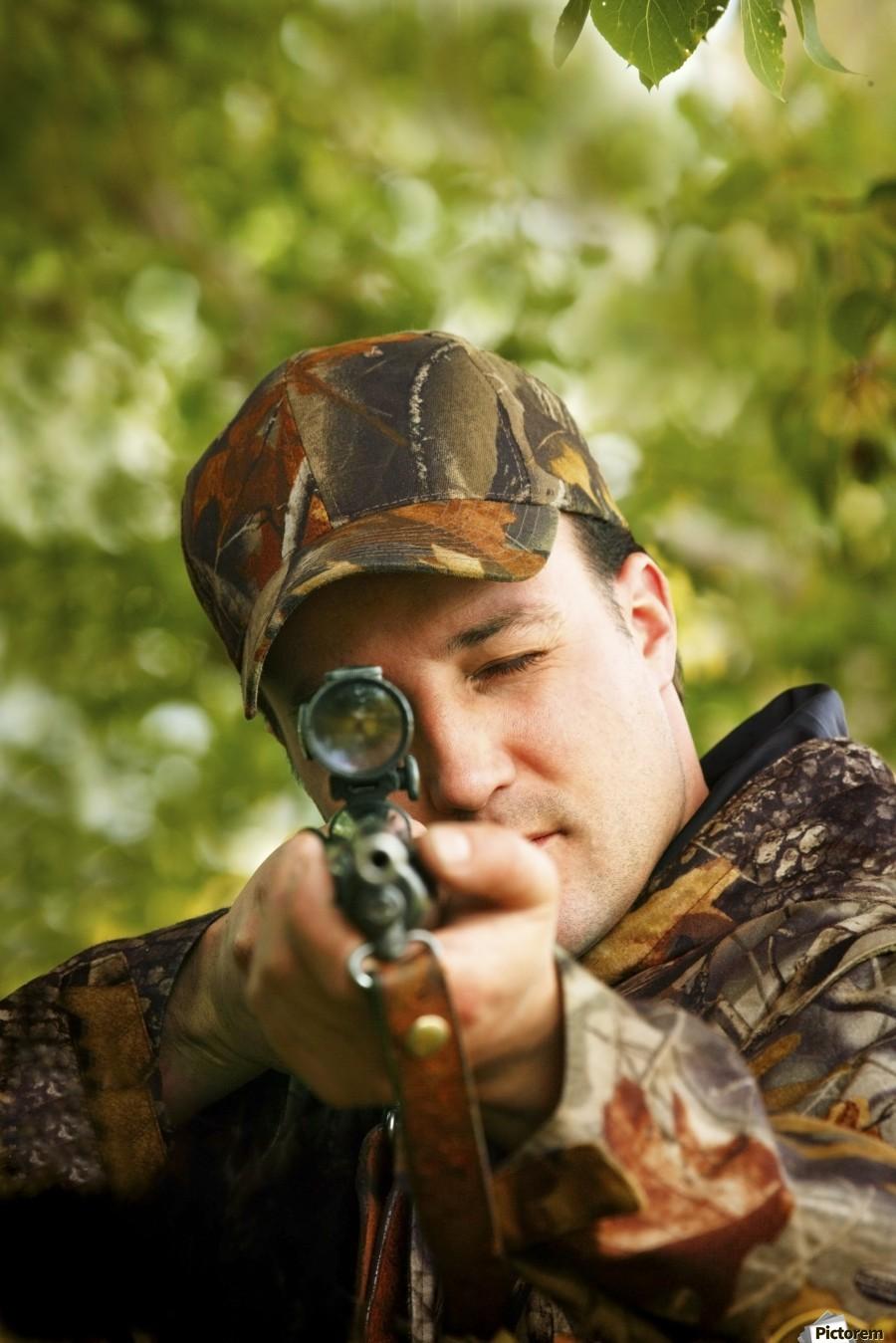 Man Hunting  Print