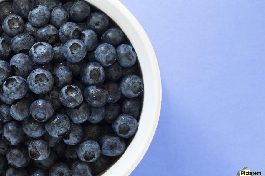 Bowl Of Blueberries  Print