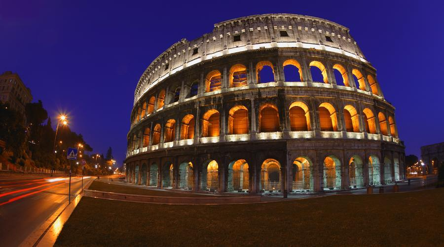 The colosseum in rome italy pacificstock canvas