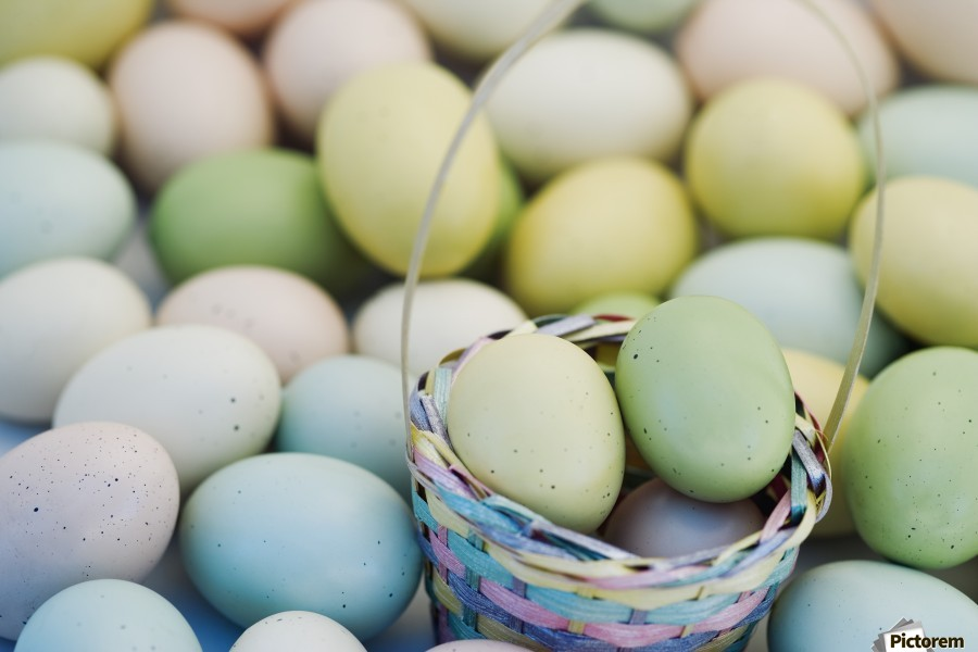 Easter Eggs And Basket  Print