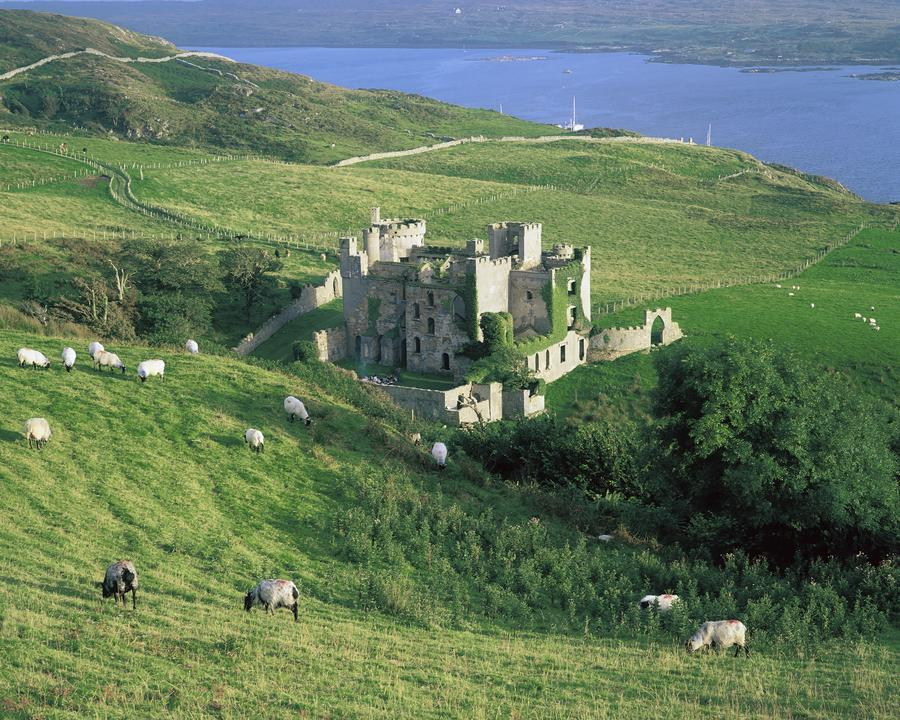 Clifden Castle, Co Galway, Ireland; 19Th Century Gothic Revival Style Castle  Print
