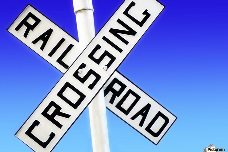Railroad Crossing Sign  Print