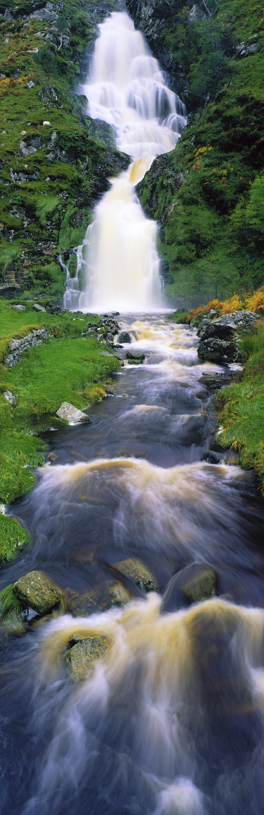 Ardara, Co Donegal, Ireland; Waterfall  Print