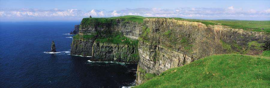 Cliffs Of Moher, Co Clare, Ireland; Cliffs On The Atlantic Ocean  Print