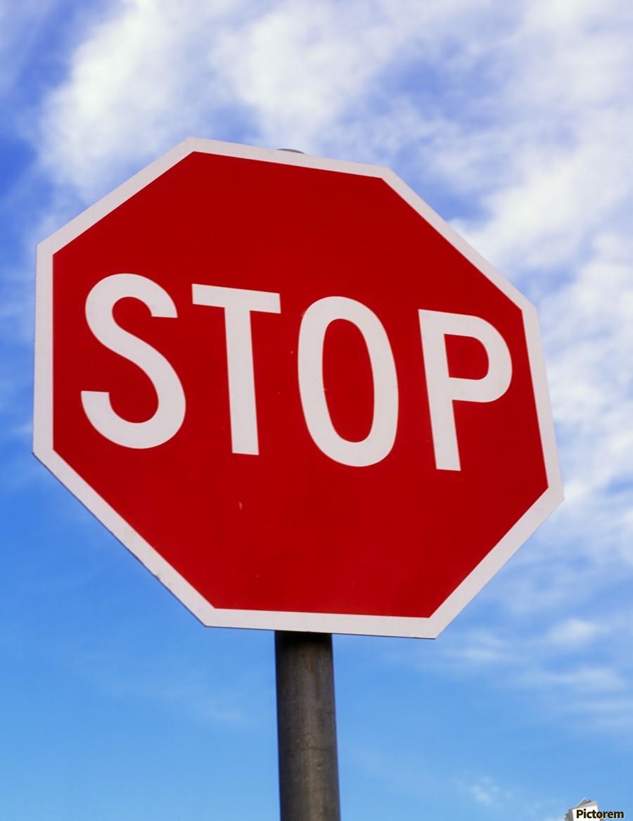 Stop Sign; Ireland  Print