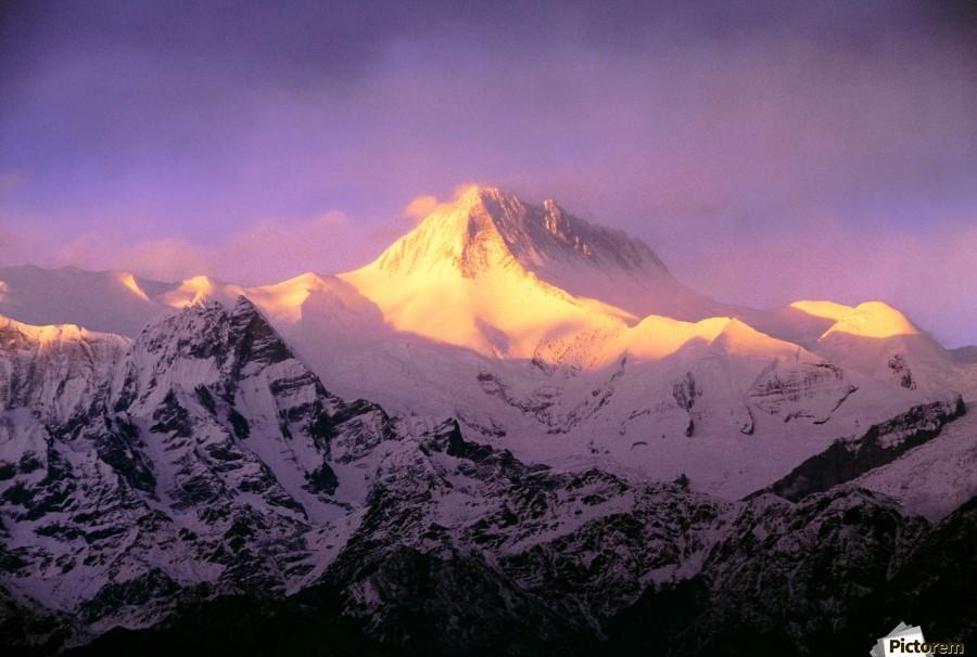 Annapurna South At Sunrise, Nepal  Print