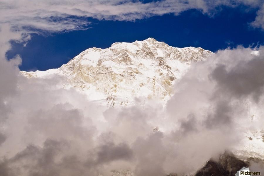 Aerial View Of Mountains, Annapurna Sanctuary, Nepal  Print