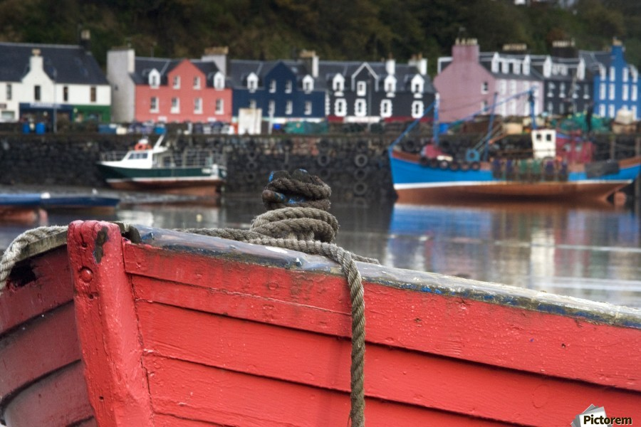 Closeup Of The Bow Of A Boat, Tobermory, Isle Of Mull, Scotland  Print