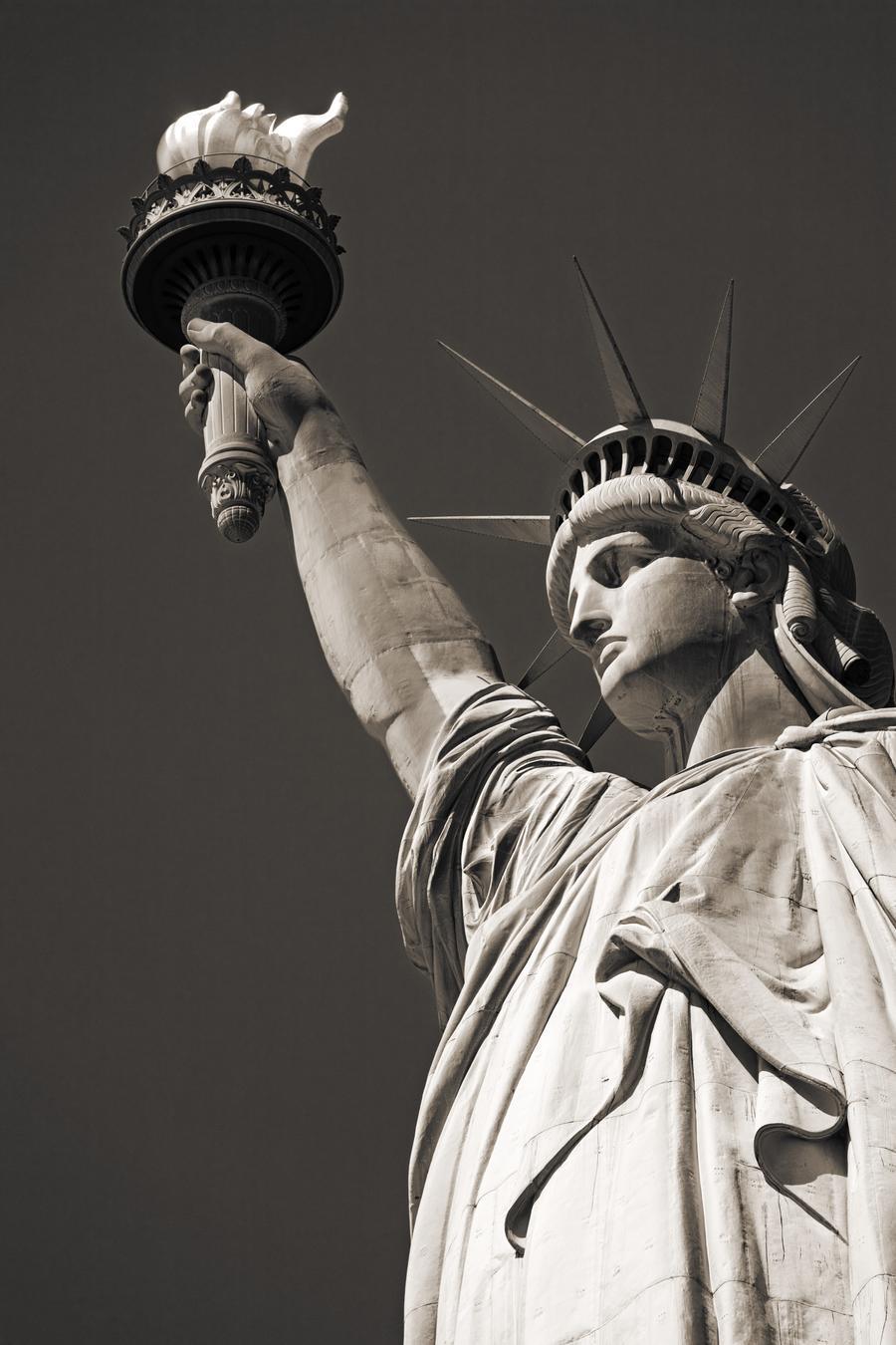 Statue Of Liberty, Lower Manhattan, New York City, New York, Usa  Print