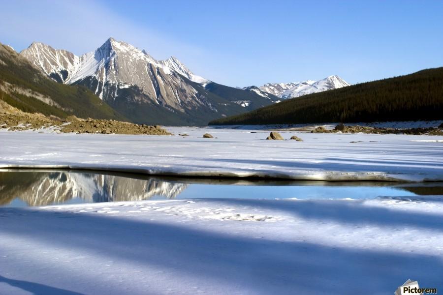 Medicine Lake, Jasper National Park, Alberta, Canada  Print
