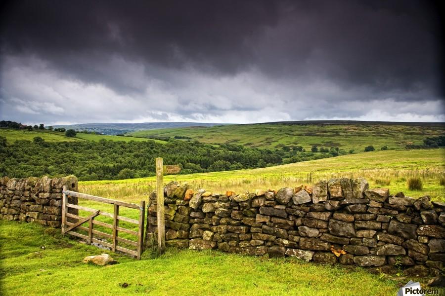 Stone Fence, Yorkshire, England  Print