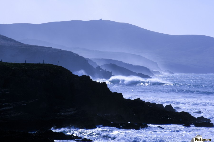 St Finian's Bay, County Kerry, Ireland, Bolus Head In The Background  Print