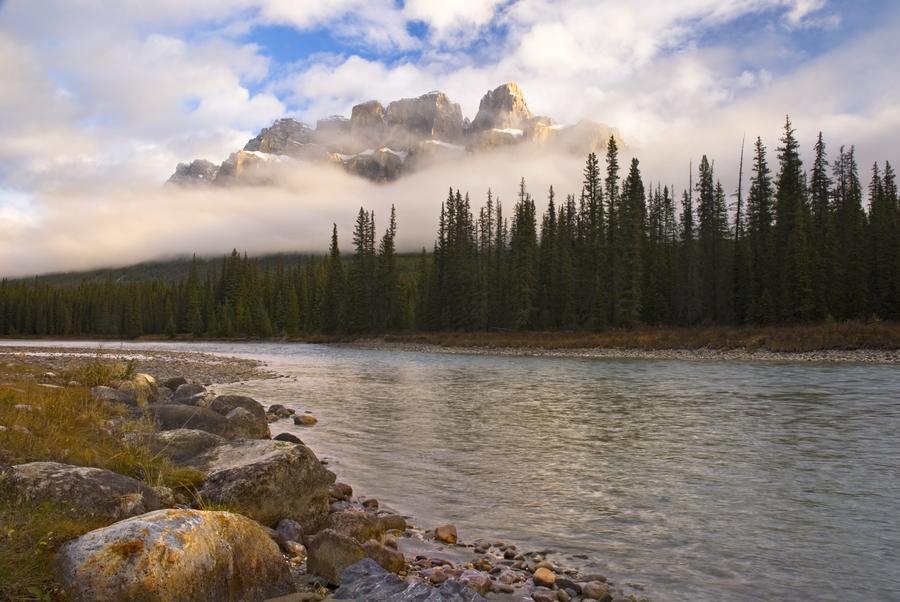 Mountain Landscape, Banff National Park, Alberta, Canada  Print