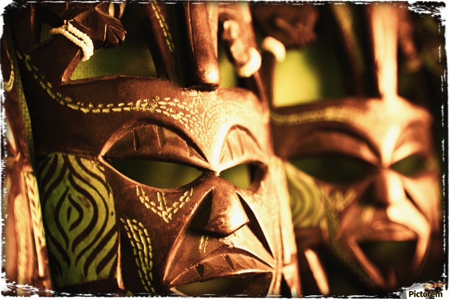 african masks pacificstock canvas