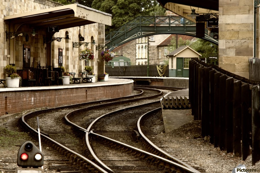 An Old Fashioned Train Station And Tracks Pacificstock