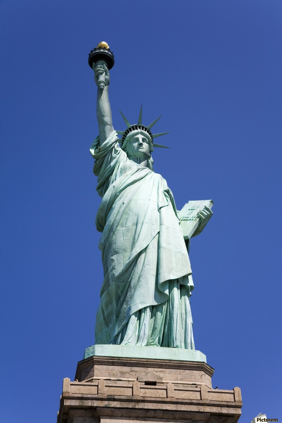 Statue Of Liberty, Lower Manhattan, New York City, New York, Usa  Print