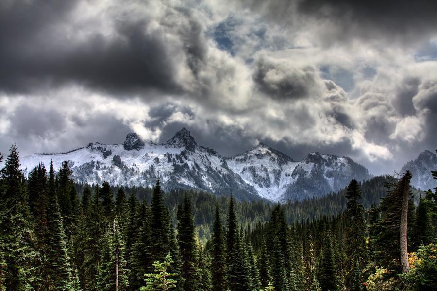 Storm Clouds, Mount Rainier, Pierce County, Washington  Print