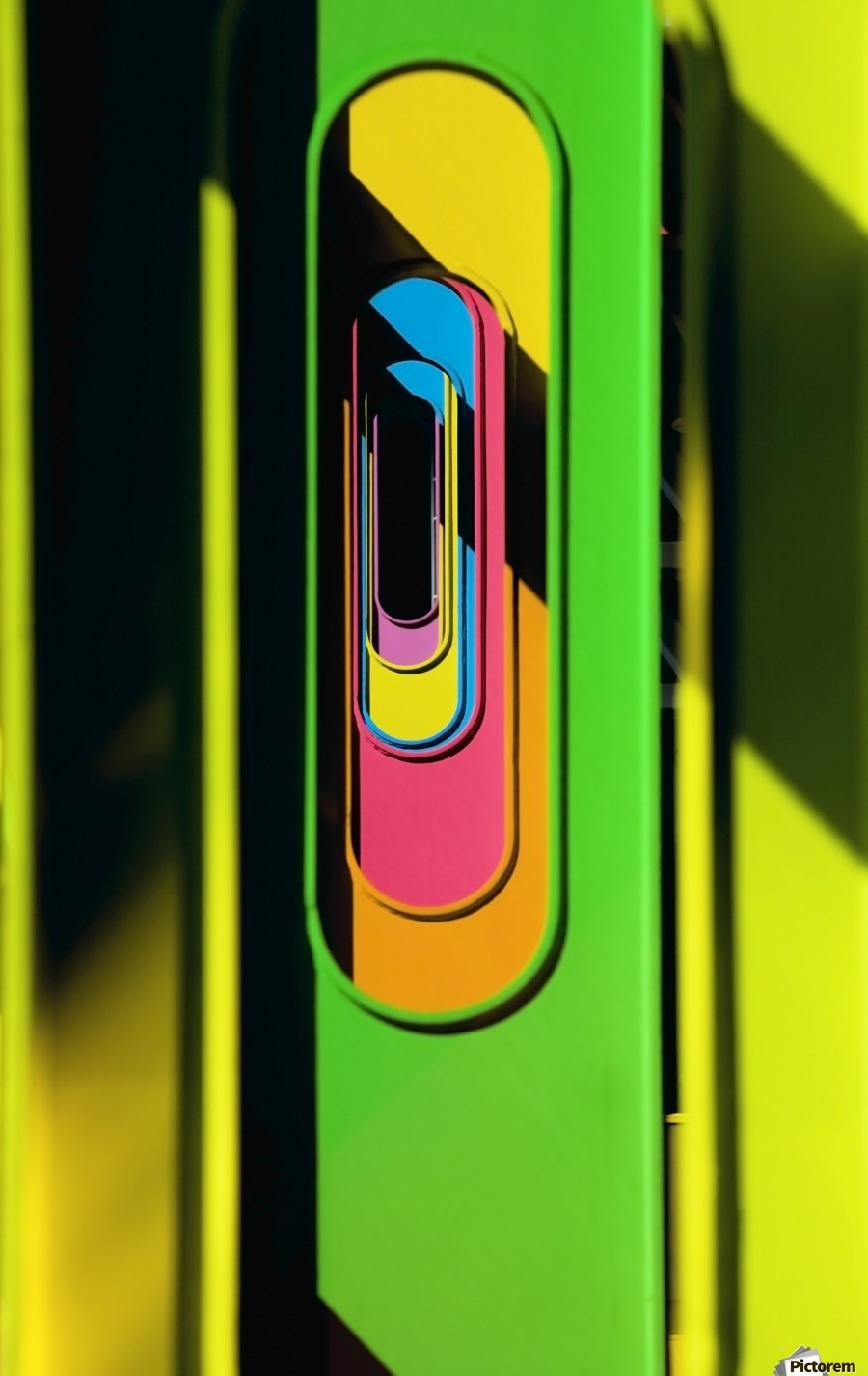 Looking Through Colorful Ovals  Print