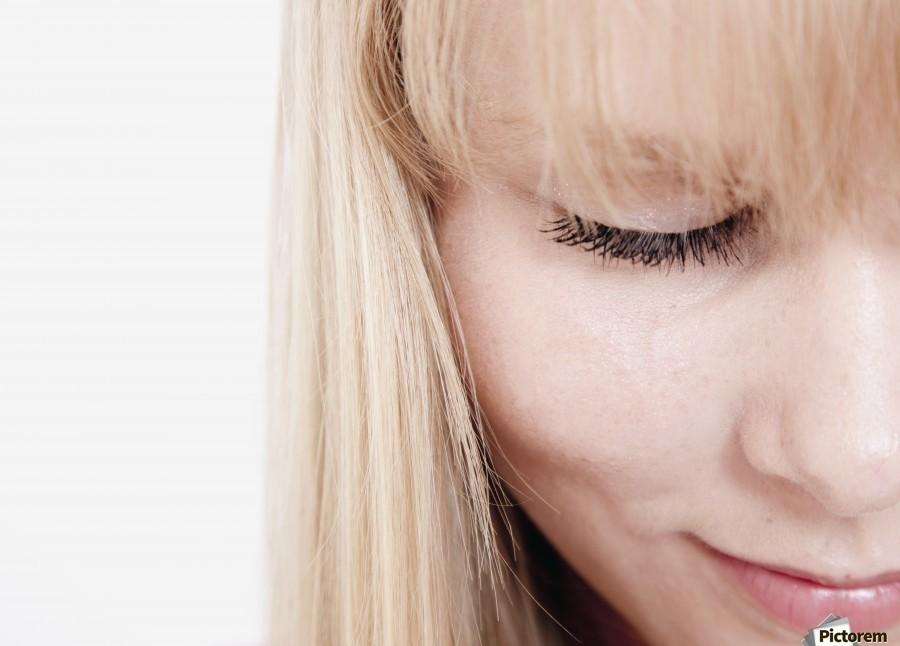 Closeup Of A Woman's Face  Print